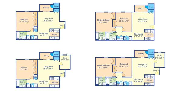 Carriage Pointe at Aquia Floorplan Redrawings