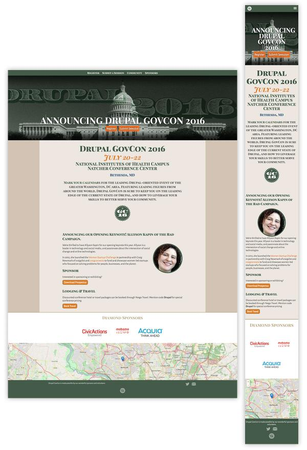 Drupal GovCon 2016-Website Homepage Layouts